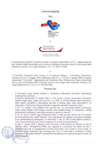 L'Università Telematica delle Camere di Commercio Italiane - Agci