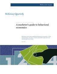 Marketing Behavior - A marketer's guide to behavioral economics