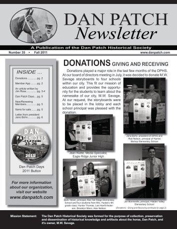 DAN PATCH Newsletter - Dan Patch Historical Society