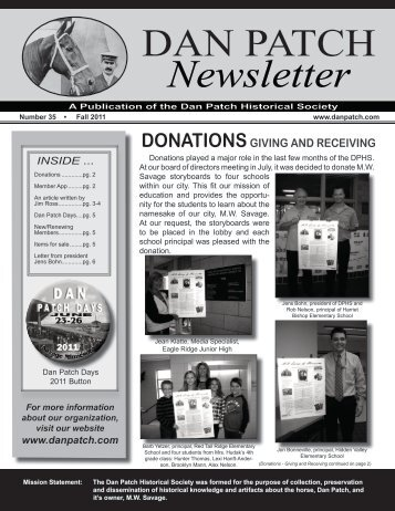 DAN PATCH Newsletter - Dan Patch Historical Society