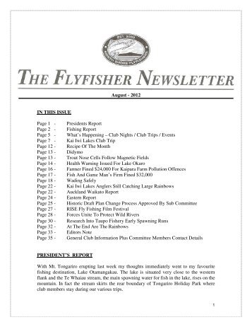 NSF August 2012 Newsletter - Christchurch Fishing and Casting Club