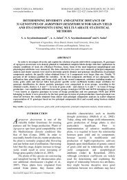 determining diversity and genetic distance of 31 genotypes of ...