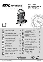 WET & DRY VACUUM CLEANER 8700 (F0158700..)