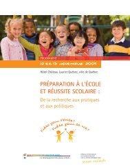 Programme - Conférence - Préparation à l'école et réussite scolaire ...