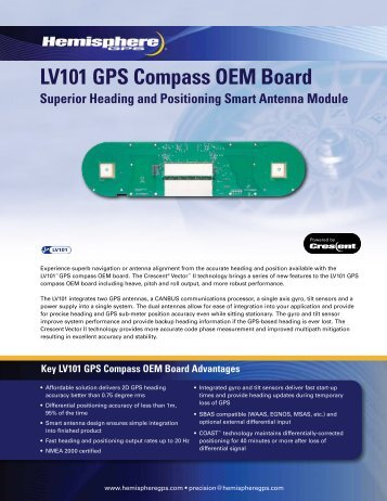 LV101 GPS Compass OEM Board Superior Heading ... - Hemisphere
