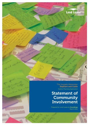 Statement of Community Involvement - Southwark Council Planning ...