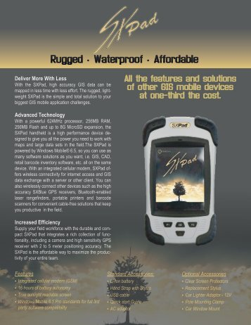 Get the most from your SXPad with the SXBlue GPS series Get the ...