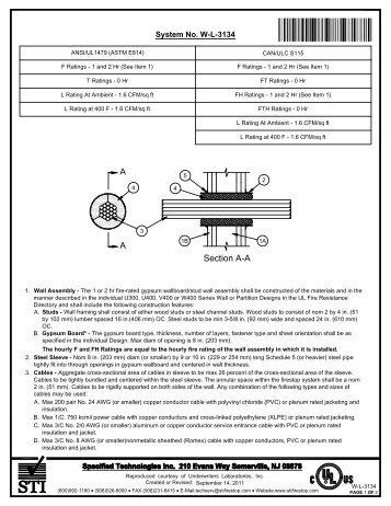 WL-3134 - STI - Specified Technologies Inc