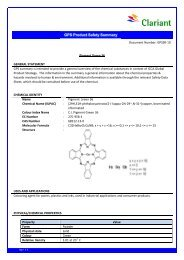 GPS Summary Report 10 Pigment Green 036 Final - Clariant