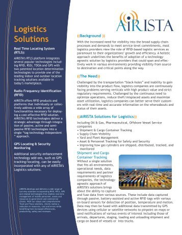 Logistics Solutions - AiRISTA
