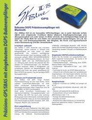 Präzisions-GPS/SBAS mit eingebautem DGPS-Bakenempfänger