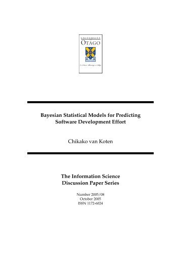 Bayesian Statistical Models for Predicting Software Development Effort