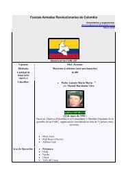 Fuerzas Armadas Revolucionarias de Colombia - México Diplomático