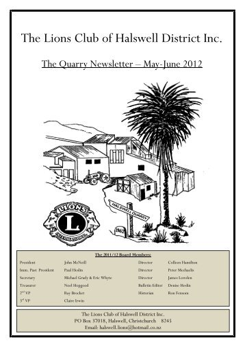 Bulletin - May/June 2012 - Lions Clubs New Zealand