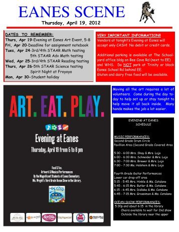 April 19, 2012.pub - Eanes Elementary