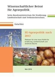 Wissenschaftlicher Beirat für Agrarpolitik - BMELV