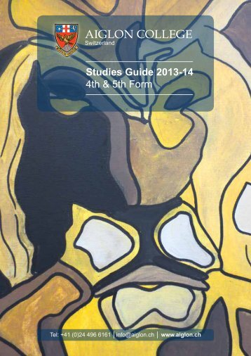 4th and 5th Form Studies Guide - Aiglon College