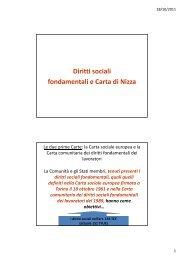 Diritti sociali fondamentali e Carta di Nizza - Studium