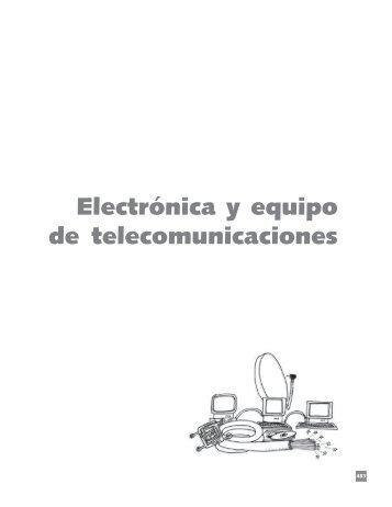 Electrónica y equipo de telecomunicaciones