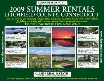Summer Rental Guide - Klemm Real Estate, Inc.
