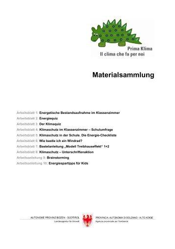 Autonome Provinz Bozen-Südtiro (Hg.): Prima Klima ...