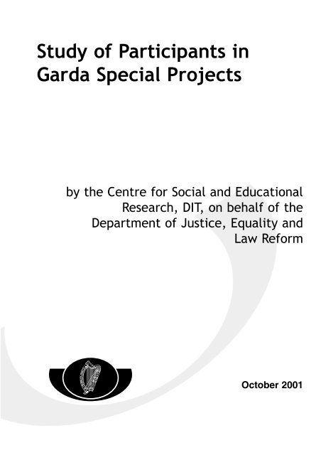 Garda Main Report - The Department of Justice and Equality