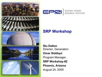 EPRI Resource Technology Options - Salt River Project