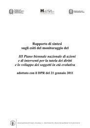Rapporto di sintesi - Ministero del Lavoro e delle Politiche Sociali