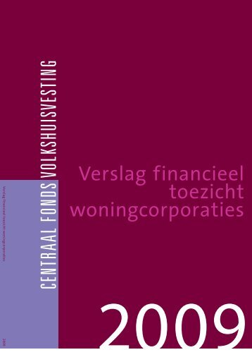 Verslag financieel toezicht woningcorporaties 2009