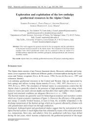 Exploration and exploitation of the low-enthalpy geothermal ... - RMZ