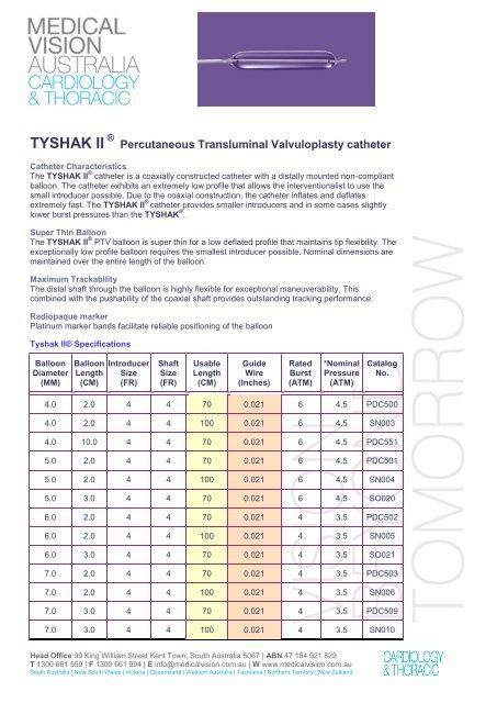 TYSHAK-ll Brochure pdf - Medical Vision Australia