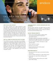 Call BaCk (IVR, USSD) - Amdocs