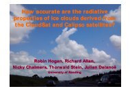 How accurate are the radiative properties of ice clouds derived from ...