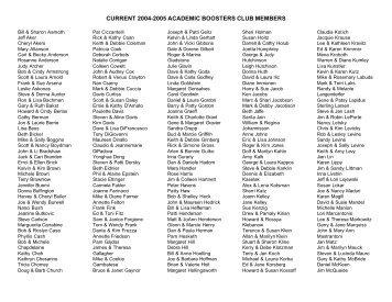 Academic Boosters Club members - Solon City Schools