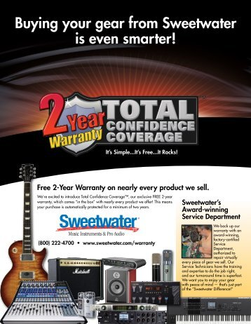 Buying your gear from Sweetwater is even smarter! - medialink ...