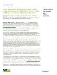 Waste Management Recycle America Achieves Top Industry ...