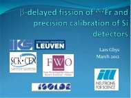 Beta-delayed fission study of 202 Fr and precise energy calibration ...