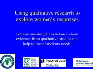Using qualitative research to explore women's responses