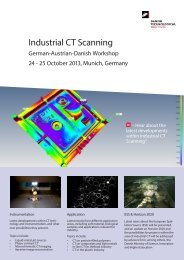 German-Austrian-Danish Workshop on Industrial CT Scanning