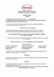 Prohlášení o vlastnostech - Ceresit CM 22