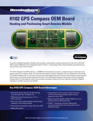 H102 GPS Compass OEM Board Heading and Positioning Smart ...