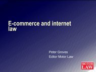 Staying legal Peter Groves, Motor Law - Auto Retail Network