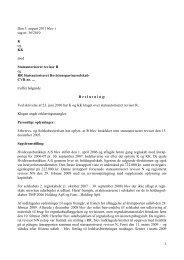 Den 5. august 2011 blev i sag nr. 36/2010 K og KK ... - Revisornævnet