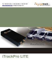 iTrackPro LITE - Vehicle Tracking | Car Track GPS Manufacturer