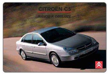 Návod k obsluze vozu Citroën C5 (2001 - 2006) - (1,8 Mb)