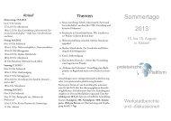 Sommertage 2013 - proletarische Plattform