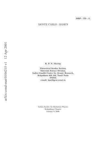 arXiv:cond-mat/0104215 v1 12 Apr 2001 - Infn