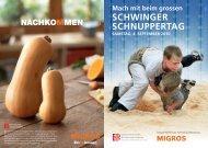 ESV-Schnuppertag Flyer - Schwingklub Mels