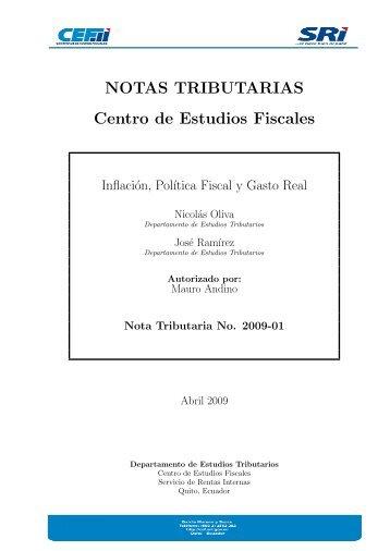 NT 2009-01: Inflación, Política Fiscal, Gasto Real - Centro de ...