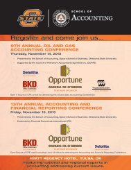 8th annual oil and Gas accountinG conference - Center for ...